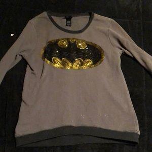 Sequin Batman sweater